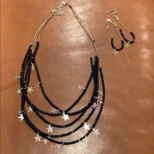 Jewelry - Star necklace and earring set